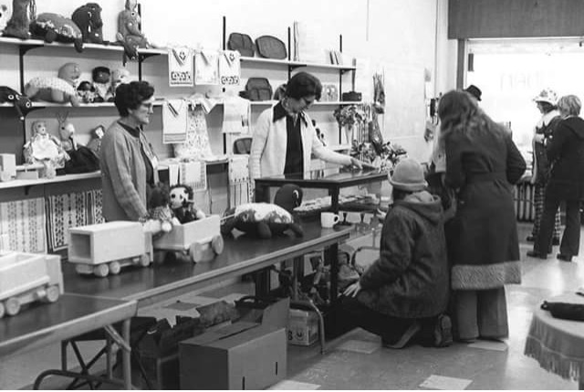 Oma in early Self Help shop